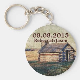rustic western country wedding thank you key chain