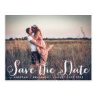 Rustic Whimsy Photo Save the Date Postcard