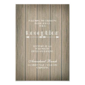 Rustic Whimsy Reception Card 9 Cm X 13 Cm Invitation Card