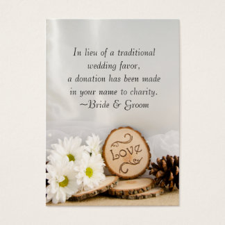 Rustic White Daisy Woodland Wedding Charity Favor