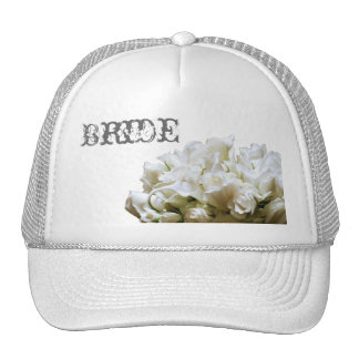 Rustic White Flowers Bride Hat
