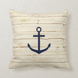 Rustic White Wood with Anchor Cushions