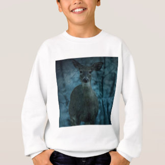 rustic whitetail deer in the rain sweatshirt