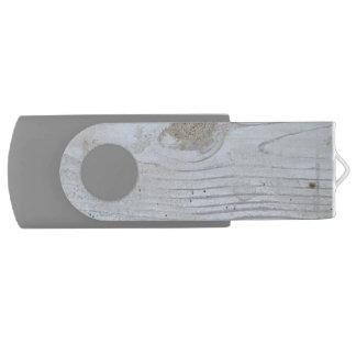 Rustic Whitewashed Board Swivel USB 2.0 Flash Drive