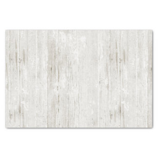 Rustic Whitewashed Wood Tissue Paper