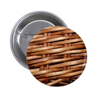 Rustic Wicker Basket Weave Button