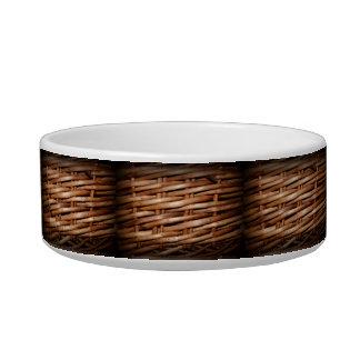 Rustic Wicker Basket Weave Pet Water Bowls