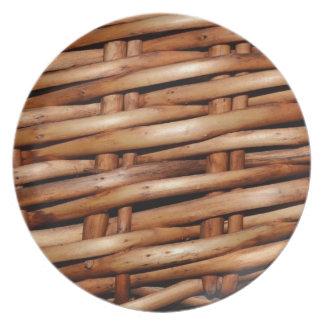 Rustic Wicker Basket Weave Plates