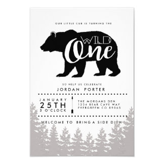 Rustic Wild One   Birthday Party Invite
