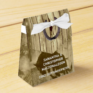 Rustic wild west cowboy country  wedding favour box