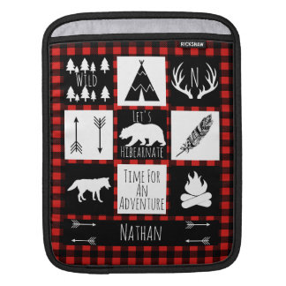 Rustic Wilderness & Animals Buffalo Check Plaid iPad Sleeve