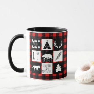 Rustic Wilderness & Animals Buffalo Check Plaid Mug