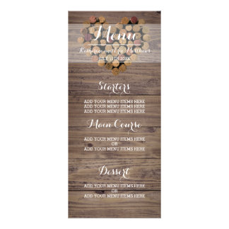 Rustic Wine Cork Menu