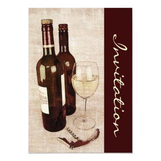 Rustic wine tasting invite