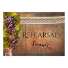 Rustic Wine Themed Rehearsal Dinner Invitation