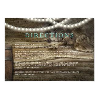 Rustic Winery Wedding Directions 9 Cm X 13 Cm Invitation Card