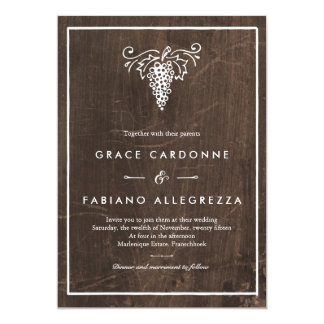 Rustic Winery Wedding Invitation
