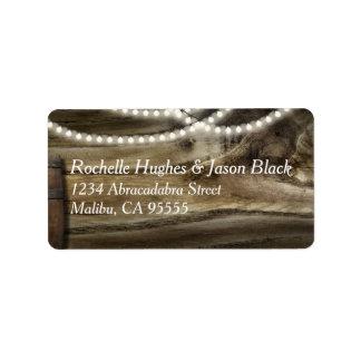 Rustic Winery Wedding Medium label Address Label