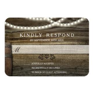 Rustic Winery Wedding RSVP 9 Cm X 13 Cm Invitation Card
