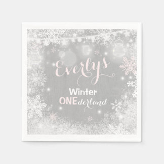 Rustic Winter ONEderland Party Napkin Disposable Napkin