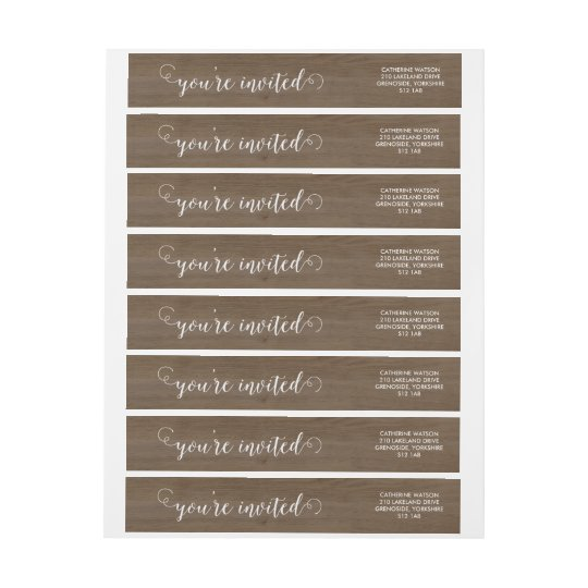 Rustic Wood and Lace Wraparound Wrap Around Label