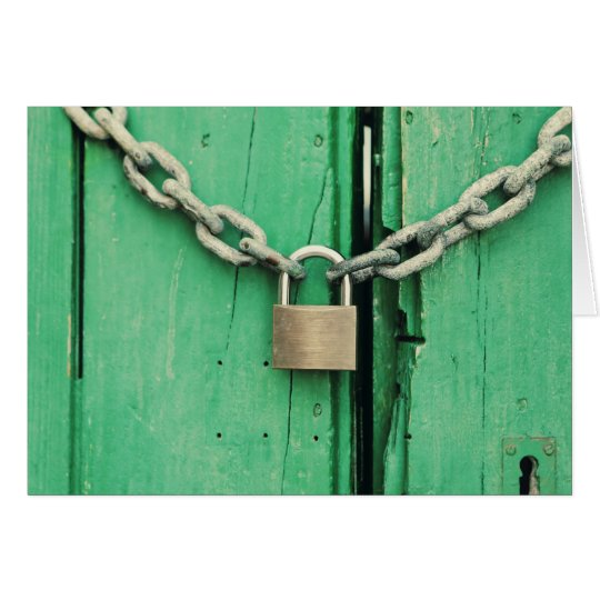 Rustic Wood and Padlock Card