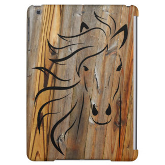 Rustic Wood And Wild Horses