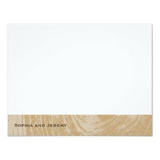 Rustic Wood Autumn Fall Wedding Thank You Card 11 Cm X 14 Cm Invitation Card