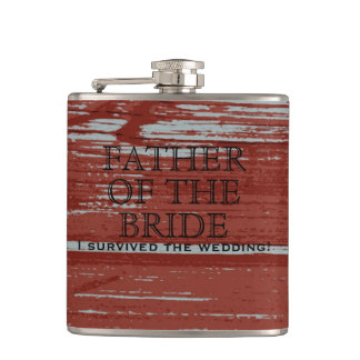Rustic Wood Barn Wedding | For Father of the Bride Hip Flask