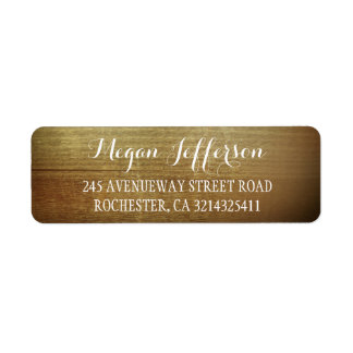 Rustic Wood Barn Wedding Return Address Label