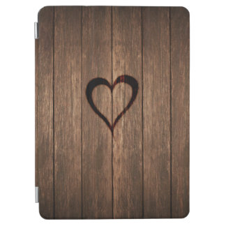 Rustic Wood Burned Heart Print iPad Air Cover