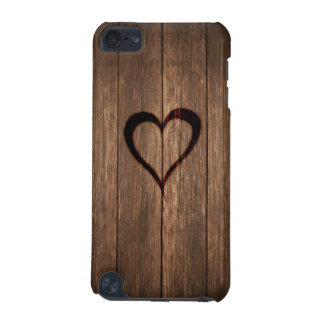 Rustic Wood Burned Heart Print iPod Touch (5th Generation) Case