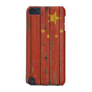 Rustic Wood China Flag iPod Touch 5G Cover