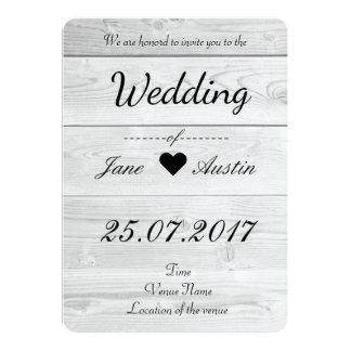 Rustic Wood Clean Wedding Invitations