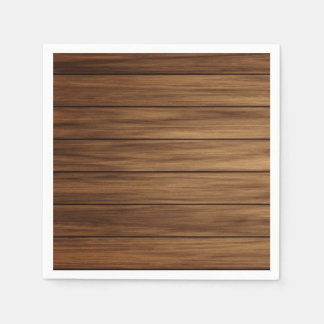 Rustic wood country farmhouse disposable napkin