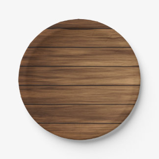 Rustic wood country farmhouse paper plate