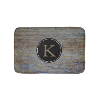 Rustic Wood Country Style | Monogrammed Initial Bath Mat