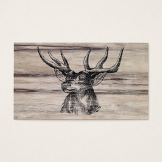Rustic Wood | Deer Business Card