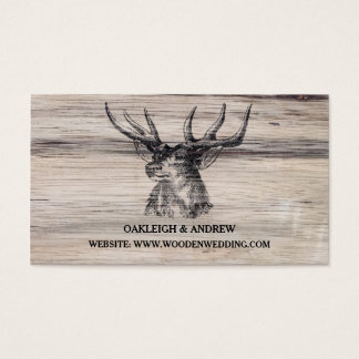 Rustic Wood | Deer Wedding Website Card