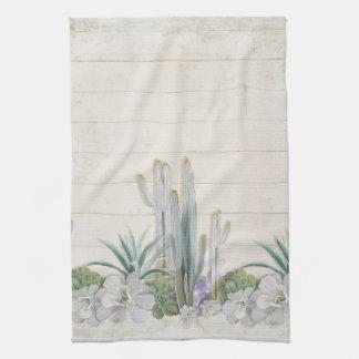 Rustic Wood Desert Cactus Succulent West Kitchen Kitchen Towels