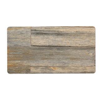 Rustic wood design