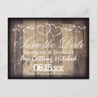 Rustic Save The Date Postcards Zazzle AU - Rustic save the date templates