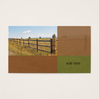 rustic wood fence by a prairie in Colorado Business Card