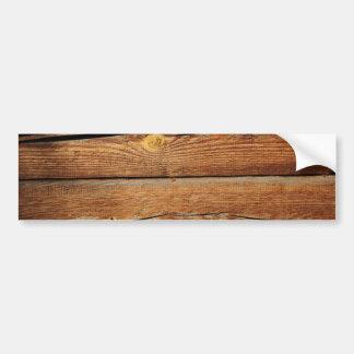 Rustic Wood Grain Boards Design Country Gifts Car Bumper Sticker