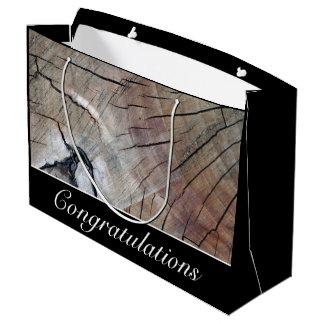 Rustic Wood Grain Design Gift Bag