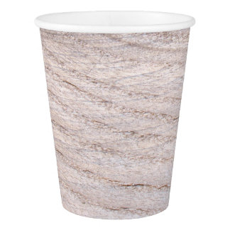 Rustic Wood Grain Design Paper Cup