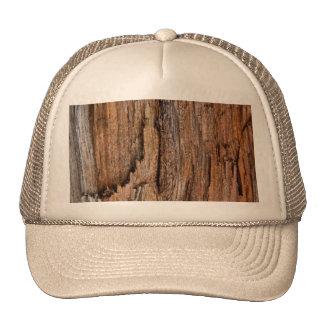 Rustic wood mesh hats