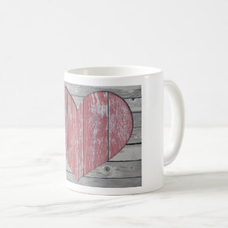 Rustic Wood Heart Mug