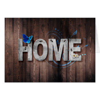 Rustic Wood Home Change Of Address Card