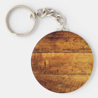 Rustic Wood Key Ring